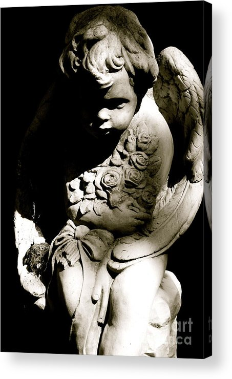 Statue Acrylic Print featuring the photograph Angel Baby by Lori Leigh