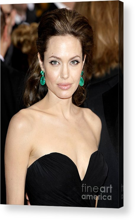 Angelina Jolie Acrylic Print featuring the photograph Angelina Jolie by Nina Prommer