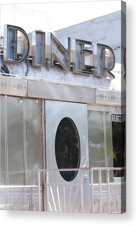 Architecture Acrylic Print featuring the photograph Art Deco Diner by Rob Hans