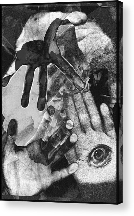 Hands Acrylic Print featuring the photograph Artist's Hands by Nancy Mueller