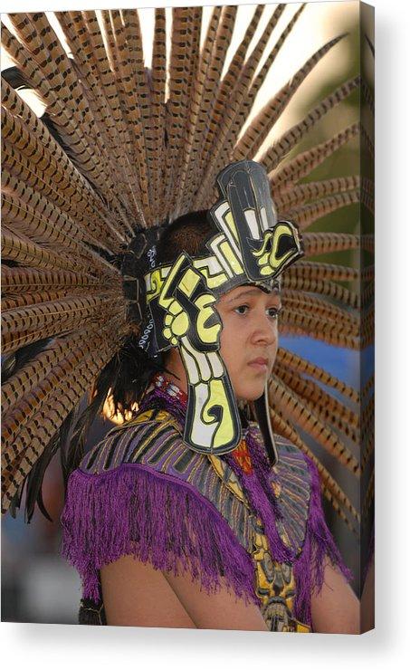 Dancer Acrylic Print featuring the photograph Aztec Dancer by Dennis Hammer