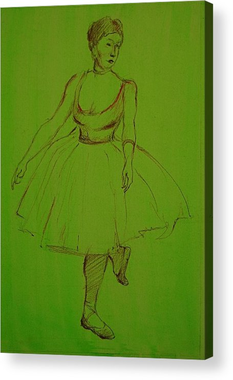 Acrylic Print featuring the painting Ballerina by Chris Riley