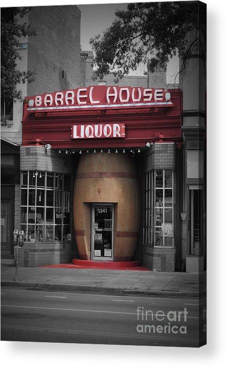 Barrel Acrylic Print featuring the photograph Barrel House Liquor Store by Jost Houk