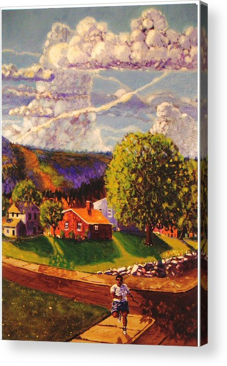 Landscape Acrylic Print featuring the painting Beautiful Day by Jonathan Carter