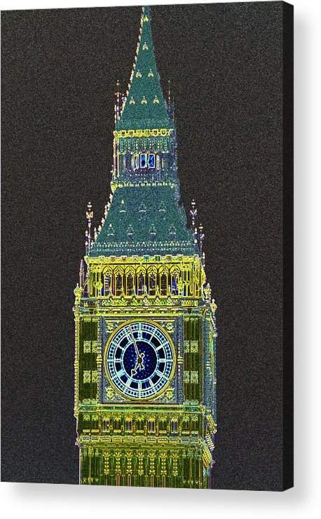 Big Ben Acrylic Print featuring the photograph Big Ben Glowing by Charles Ridgway