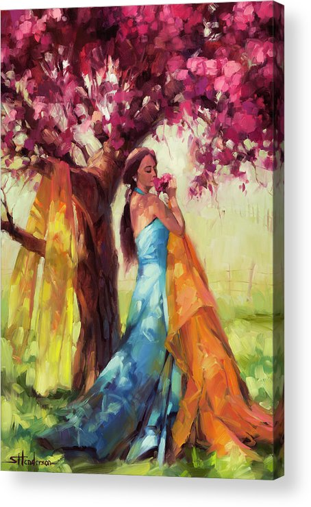Country Acrylic Print featuring the painting Blossom by Steve Henderson