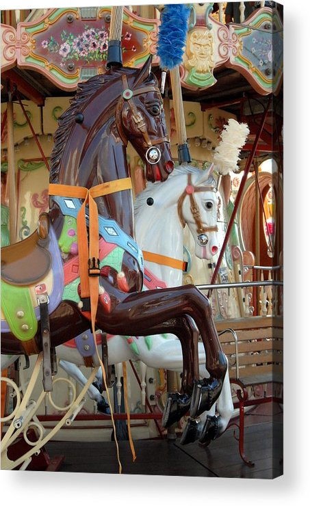 Carrousel Horse Canvas Prints Acrylic Print featuring the photograph Carrousel 54 by Joyce StJames