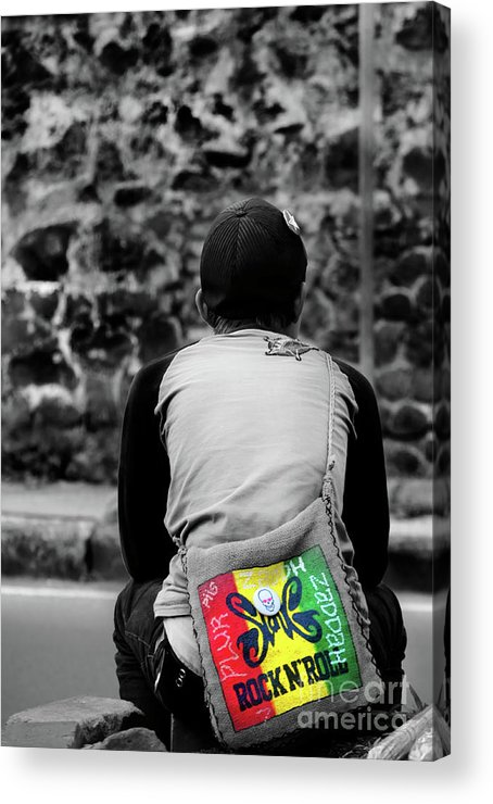 Bag Acrylic Print featuring the photograph Carrying Colors by Charuhas Images