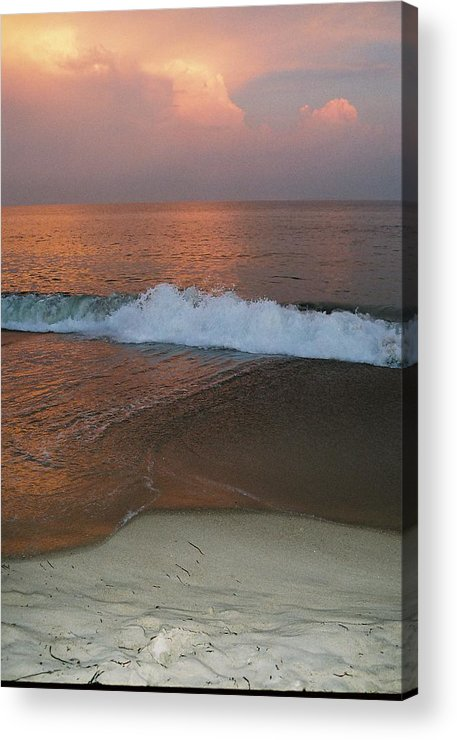 Sea Scape Acrylic Print featuring the photograph Charlestown's Sunset by Cheryl Martin
