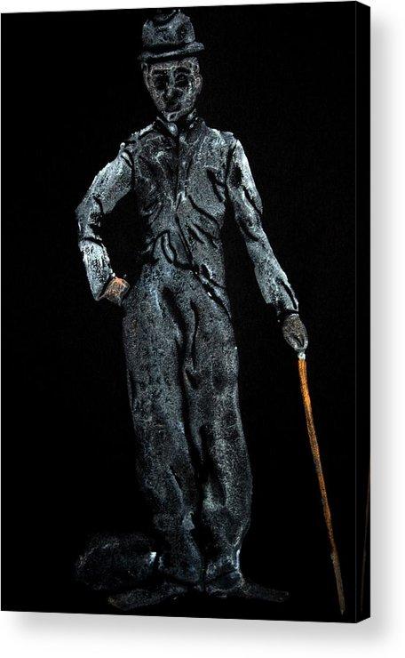 Charlie Chaplin Acrylic Print featuring the painting Charlie Chaplin by Ana Bikic