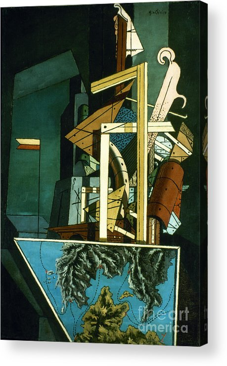 1916 Acrylic Print featuring the photograph Chirico: Melancolie by Granger