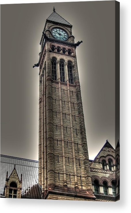 Rcouper Acrylic Print featuring the photograph Clock Tower by Rick Couper