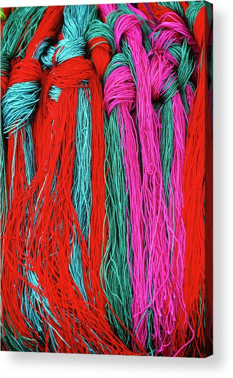 Tibet Acrylic Print featuring the photograph Colors Of Tibet by Michele Burgess