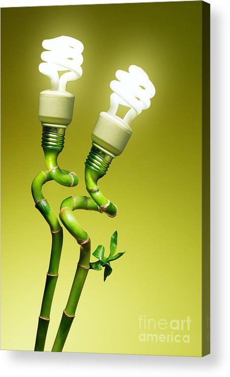 Alternative Acrylic Print featuring the photograph Conceptual Lamps by Carlos Caetano