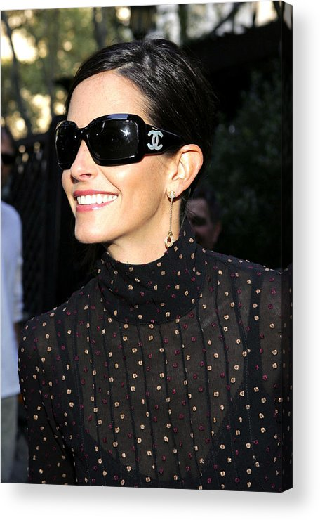 Kinerase Pro+therapy Skin Care Acrylic Print featuring the photograph Courteney Cox Wearing Chanel Sunglasses by Everett