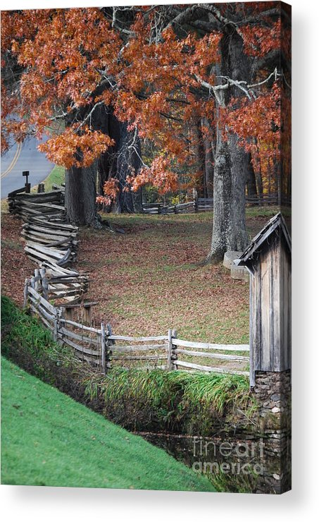 Archecture Acrylic Print featuring the photograph Crooked Fence by Eric Liller