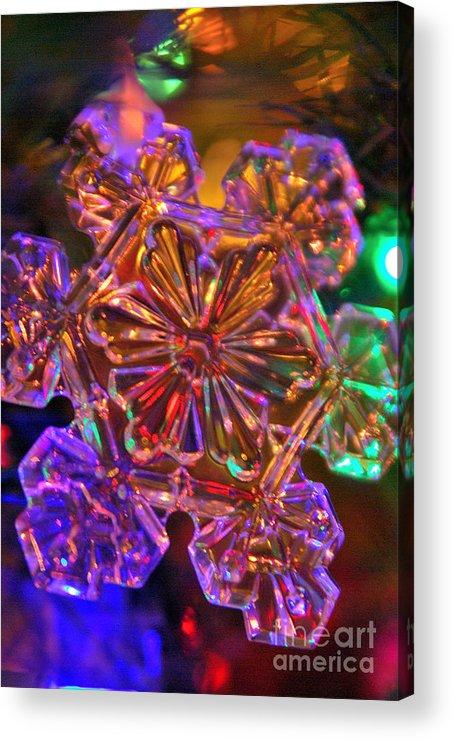 Christmas Acrylic Print featuring the photograph Crystal Reflections by Michelle Hastings