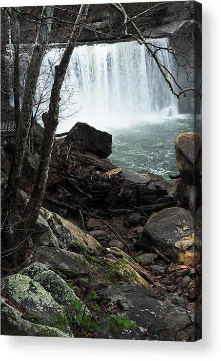 Cumberland Falls Acrylic Print featuring the photograph Cumberland Falls Ky One by Steven Crown