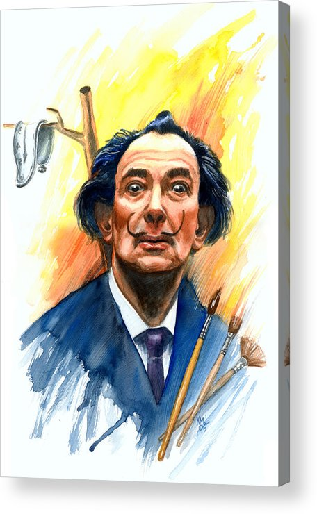 Salvador Dali Acrylic Print featuring the painting Dali by Ken Meyer jr
