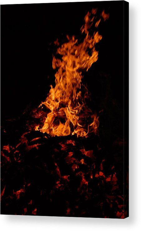 Fire Acrylic Print featuring the photograph Dancing Fire by Steven Crown
