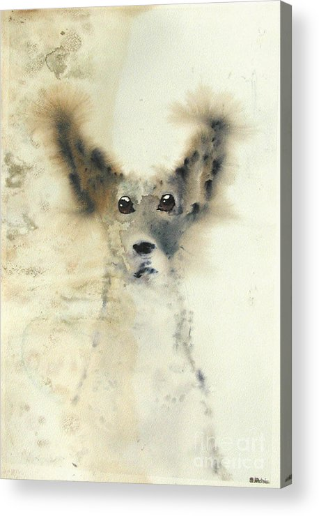 Dog Acrylic Print featuring the painting dog by Sarah Goodbread