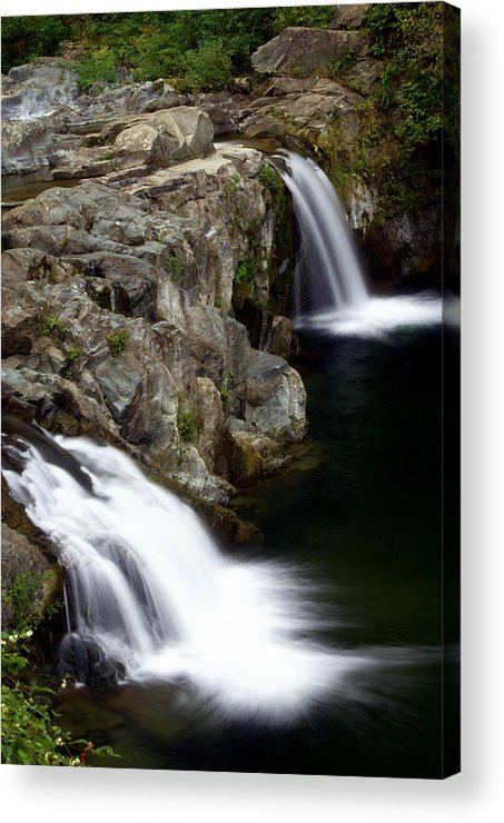 Waterfalls Acrylic Print featuring the photograph Double Twin by Marty Koch