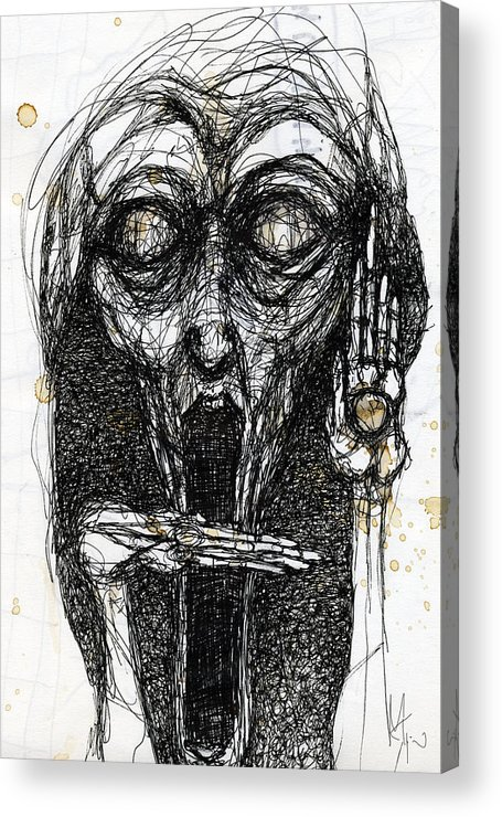 Face Acrylic Print featuring the drawing Dream One by Mark M Mellon
