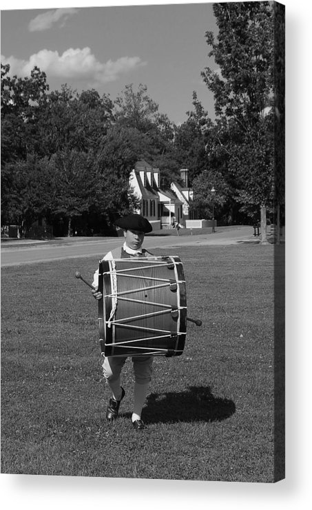 Colonial Acrylic Print featuring the photograph Drummer Boy by Eric Liller