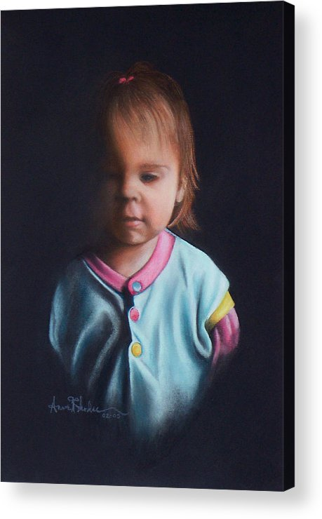 Child Acrylic Print featuring the painting Early Riser by Anne Rhodes