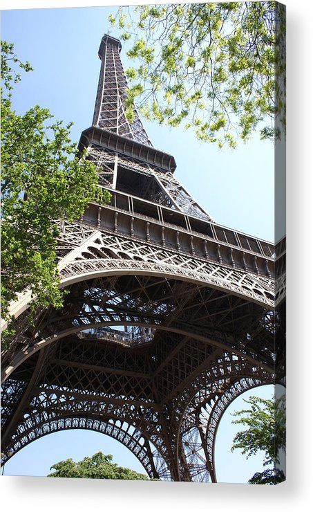 Eiffel Tower Acrylic Print featuring the photograph Eiffel Tower Spring by Tracy Dugas