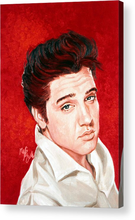 Elvis Presley Acrylic Print featuring the painting Elvis Presley by Neil Feigeles