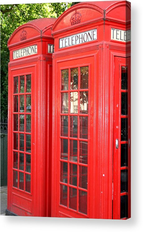 Phone Acrylic Print featuring the photograph England's Calling by Sara Summers