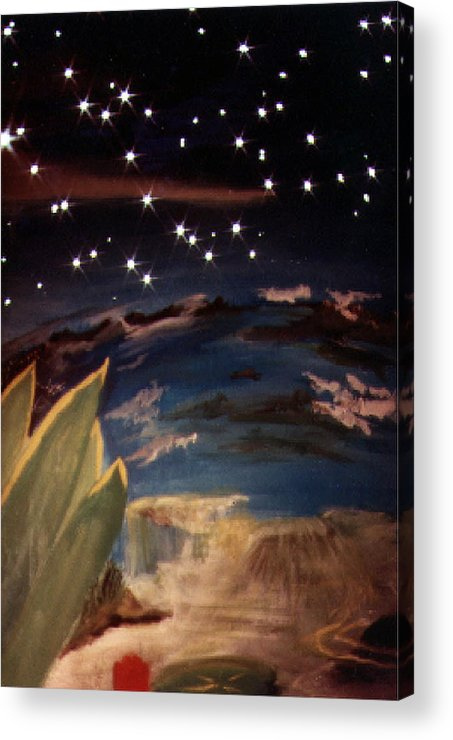 Surreal Acrylic Print featuring the painting Enter My Dream by Steve Karol