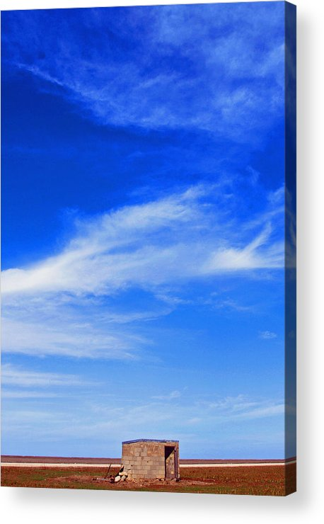 Texas Sky Photo Acrylic Print featuring the photograph Farm Shed Under Texas Sky 1 by James Granberry