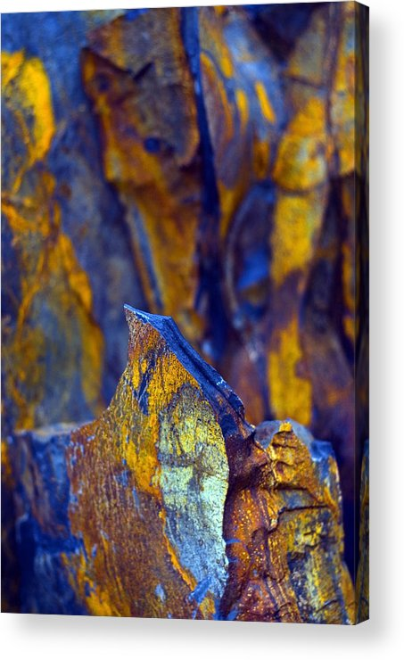 Texture Acrylic Print featuring the photograph First Cut Is The Deepest by Skip Hunt