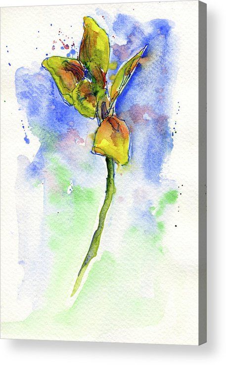 John D Benson Acrylic Print featuring the painting Flower Two by John D Benson