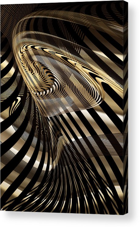 Abstract Acrylic Print featuring the digital art Fluid Matal by Gae Helton