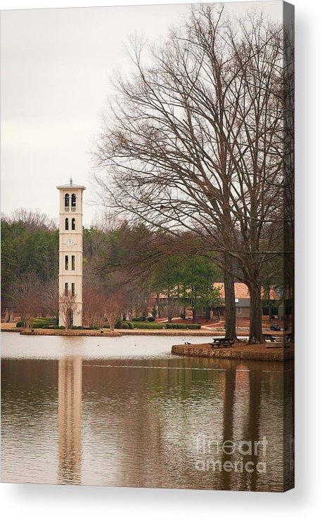Furman University Acrylic Print featuring the photograph Furman Bell Tower 3 by David Waldrop