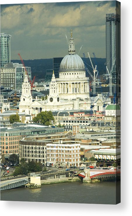 Thames River Acrylic Print featuring the photograph Grand View Of Central London by Charles Ridgway