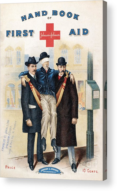 19th Century Acrylic Print featuring the photograph Handbook: First Aid by Granger