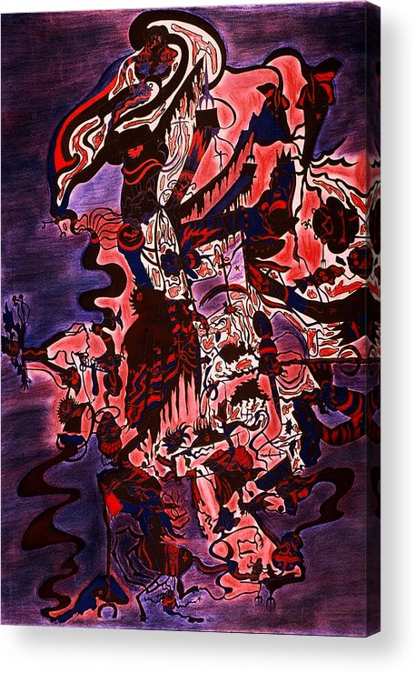 Abstract Acrylic Print featuring the print Hell by William Watson