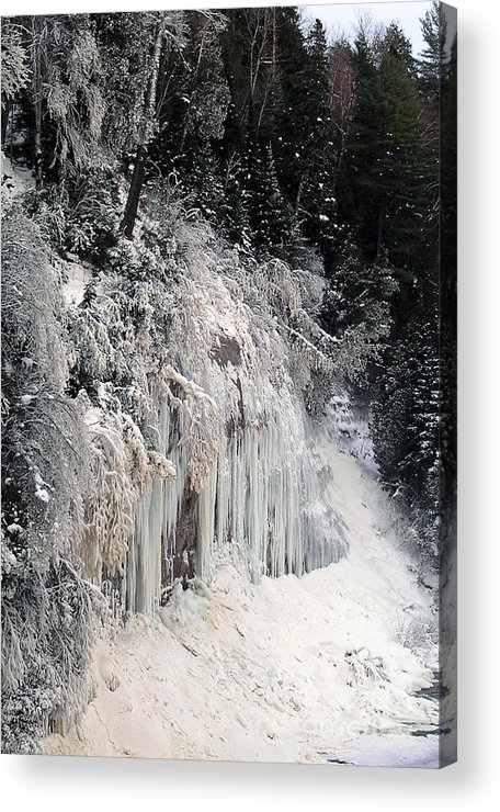 Tahquamenon Falls State Park Acrylic Print featuring the photograph Icescapes by Scott Heister