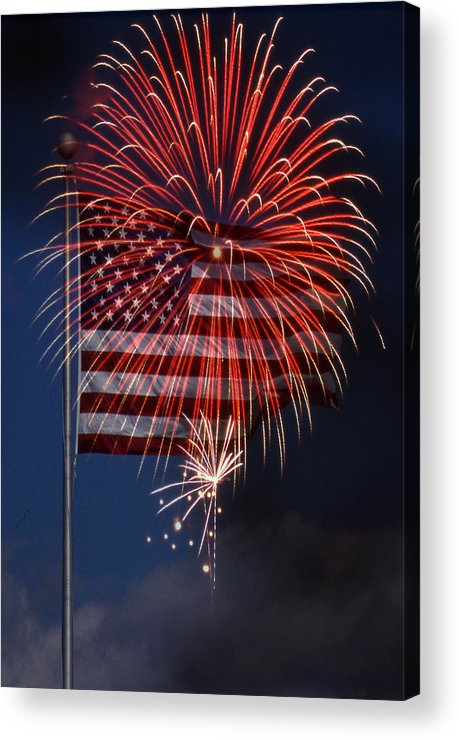 Flag Acrylic Print featuring the photograph Independence Day by Skip Willits