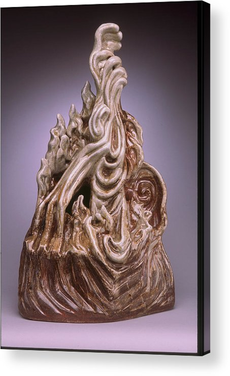 Form Sculpture Acrylic Print featuring the sculpture Intervention by Stephen Hawks