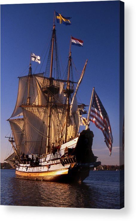 Sail Acrylic Print featuring the photograph Kalmar Nyckel by Skip Willits