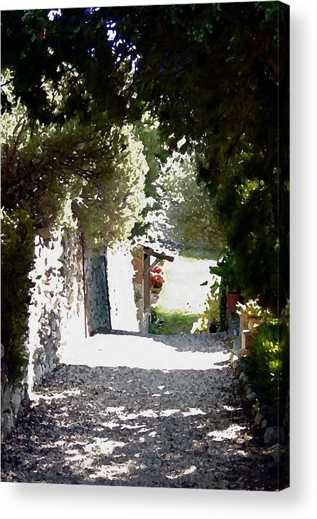 La Romita Acrylic Print featuring the digital art La Romita Garden Path by Tom Herrin
