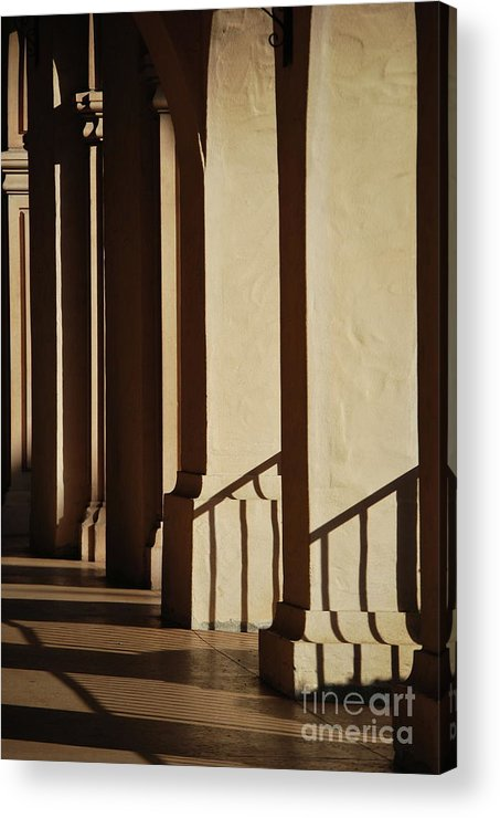 Columns Acrylic Print featuring the photograph Light And Shadows by Lori Leigh