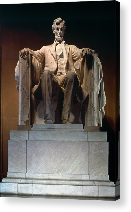 19th Century Acrylic Print featuring the photograph Lincoln Memorial: Statue by Granger
