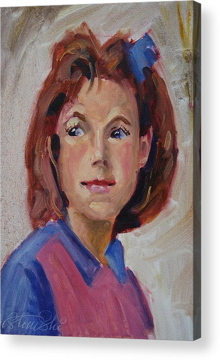 American Impressionist Acrylic Print featuring the painting Lynn by Len Stomski