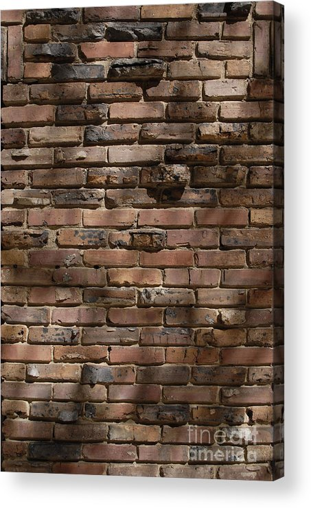 Bricks Acrylic Print featuring the photograph Masonry Relief by Walter Oliver Neal